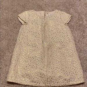 GOLD METALLIC PRINT DRESS
